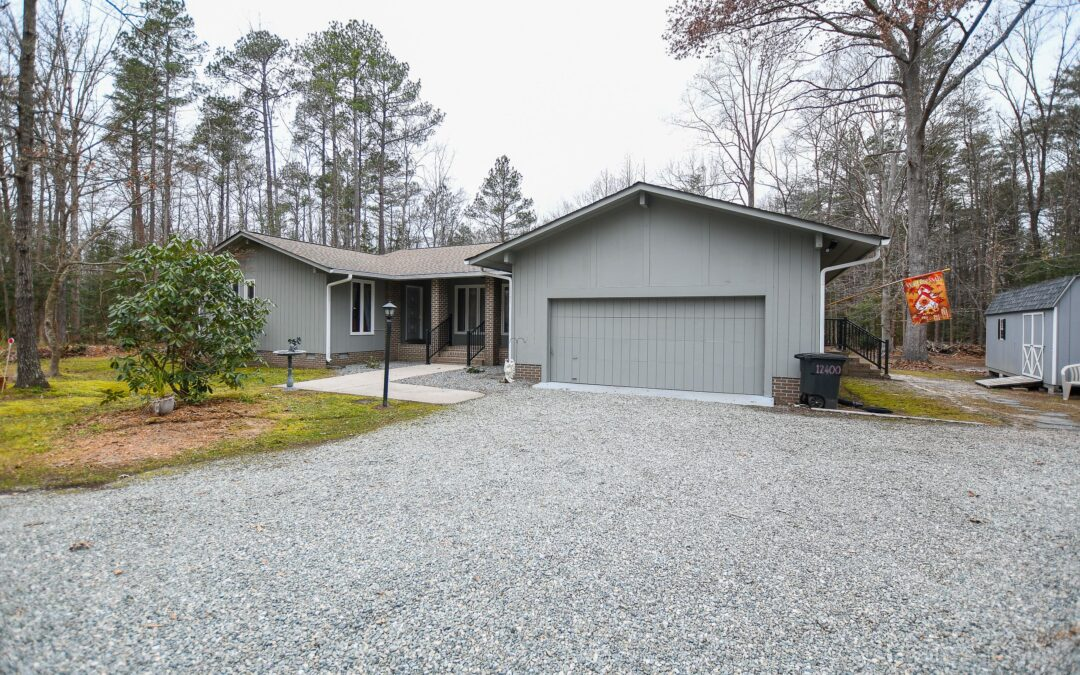 Contemporary Rancher on 5+ acre lot in Cherry Hill-$339,950.